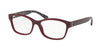 Coach HC6116F Rectangle Eyeglasses  5509-OXBLOOD 54-16-140 - Color Map red