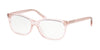 Coach HC6139U Pillow Eyeglasses  5556-TRANSPARENT PINK 55-15-140 - Color Map pink