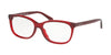 Coach HC6139U Pillow Eyeglasses  5557-TRANSPARENT BURGUNDY 55-15-140 - Color Map purple/reddish