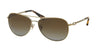Coach L085 BREE HC7045 Pilot Sunglasses  9190T5-GOLD/DK VINTAGE TORT 59-14-140 - Color Map gold