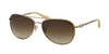 Coach HC7045 Pilot Sunglasses  919113-GOLD/MILKY HONEY 59-14-140 - Color Map gold