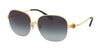 Coach L1609 HC7068 Square Sunglasses  929111-LIGHT GOLD/BLACK 58-16-135 - Color Map gold