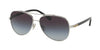 Coach L1636 HC7072B Pilot Sunglasses  901511-SILVER/BLACK 59-14-140 - Color Map silver