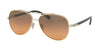 Coach L1636 HC7072B Pilot Sunglasses  930295-GOLD SILVER/ BLACK 59-14-140 - Color Map silver