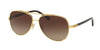 Coach L1636 HC7072B Pilot Sunglasses  930313-GOLD/ DARK TORTOISE 59-14-140 - Color Map gold