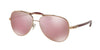 Coach L1636 HC7072B Pilot Sunglasses  93041T-ROSE GOLD/AUBERGINE 59-14-140 - Color Map pink