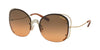 Coach L1019 HC7081 Butterfly Sunglasses  929218-SHINY LIGHT GOLD 58-18-135 - Color Map gold