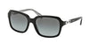 Coach HC8104 Square Sunglasses  521411-BLACK/BLACK WHITE SIG C 57-17-135 - Color Map black
