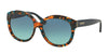 Coach L561 HC8159F Round Sunglasses  53374S-TEAL CONFETTI/TEAL 55-16-135 - Color Map blue