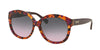 Coach HC8159F Round Sunglasses  533990-PURPLE CONFETTI/PURPLE 55-16-135 - Color Map violet
