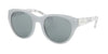 Coach HC8167F Cat Eye Sunglasses  5362C2-DOVE GREY/WHITE CRYSTAL MOSAIC 52-22-135 - Color Map crystal