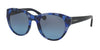 Coach L155 HC8167 Cat Eye Sunglasses  536117-BLUE BLACK MOSAIC/NAVY 52-22-135 - Color Map havana