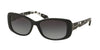 Coach L156 HC8168 Rectangle Sunglasses  534811-BLACK/BLACK CRYSTAL MOSAIC 56-16-135 - Color Map black