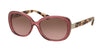 Coach L153 HC8172 Rectangle Sunglasses  537114-CRYS BERRY/PEACH TORTOISE 56-16-140 - Color Map purple/reddish