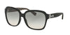 Coach L1603 HC8185F Square Sunglasses  526111-BLACK/BLACK MILITARY SIG C 58-16-140 - Color Map black