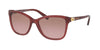 Coach L1608 HC8187BF Rectangle Sunglasses  539814-MILKY BLACK CHERRY 54-17-135 - Color Map bordeaux