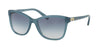 Coach HC8187BF Rectangle Sunglasses  539979-MILKY BLUE 54-17-135 - Color Map blue