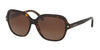 Coach L1613 HC8192 Square Sunglasses  5394T5-DARK TORT/DARK TORT GOLD SIG C 56-15-140 - Color Map havana