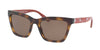 Coach L1635 HC8208 Square Sunglasses  545973-DARK TORT/RED ELECTRIC FLORAL 55-19-140 - Color Map havana