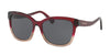 Coach HC8219F Square Sunglasses  548487-RED SAND GRADIENT 56-16-140 - Color Map red