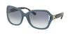 Coach L1030 HC8238 Square Sunglasses  552179-MATCH MILKY BLUE DENIM 57-20-135 - Color Map blue