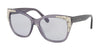 Coach L1044 HC8244F Square Sunglasses  55221A-MILKY PURPLE 56-17-140 - Color Map purple