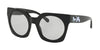 Coach L1048 HC8250F Irregular Sunglasses  500287-BLACK SOLID 51-23-140 - Color Map black