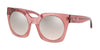 Coach L1048 HC8250F Irregular Sunglasses  55278Z-TRANS PINK 51-23-140 - Color Map pink