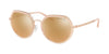 Michael Kors IBIZA MK1034 Irregular Sunglasses  32465A-ROSE GOLD 53-19-140 - Color Map gold