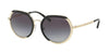 Michael Kors IBIZA MK1034 Irregular Sunglasses  33328G-LITE GOLD 53-19-140 - Color Map gold