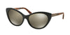 Michael Kors PARADISE BEACH MK2014 Cat Eye Sunglasses  30655A-BLACK BROWN TORTOISE 54-17-135 - Color Map black