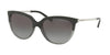 Michael Kors SUE MK2051 Cat Eye Sunglasses  328011-BLACK/TRANSPARENT GREY 55-17-140 - Color Map black