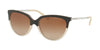 Michael Kors SUE MK2051 Cat Eye Sunglasses  328313-BROWN/MILKY BEIGE 55-17-140 - Color Map brown