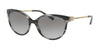 Michael Kors ABI MK2052 Cat Eye Sunglasses  328911-BLACK HORN 55-18-140 - Color Map black