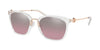 Michael Kors LUGANO MK2064 Square Sunglasses  31057E-CLEAR CRYSTAL 53-20-140 - Color Map clear