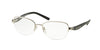 Michael Kors SADIE VI MK3007 Rectangle Eyeglasses  1001-SILVER/BLACK 51-17-135 - Color Map silver