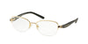 Michael Kors MK3007 Rectangle Eyeglasses  1004-GOLD /BLACK 49-17-135 - Color Map gold