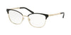 Michael Kors ADRIANNA IV MK3012 Cat Eye Eyeglasses  1014-MATTE  BLACK/LIGHT GOLD 51-17-135 - Color Map black