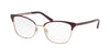 Michael Kors ADRIANNA IV MK3012 Cat Eye Eyeglasses  1108-MATTE CORDOVAN/ROSE GOLD 51-17-135 - Color Map black