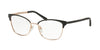 Michael Kors ADRIANNA IV MK3012 Cat Eye Eyeglasses  1113-MATTE BLACK/ROSE GOLD 51-17-135 - Color Map black