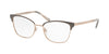 Michael Kors ADRIANNA IV MK3012 Cat Eye Eyeglasses  1203-MATTE GUNMETAL/ROSE GOLD 51-17-135 - Color Map gold