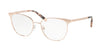 Michael Kors NAO MK3018 Square Eyeglasses  1194-ROSE GOLD-TONE 54-17-140 - Color Map pink