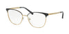 Michael Kors NAO MK3018 Square Eyeglasses  1195-MATTE BLACK/PALE GOLD-TONE 54-17-140 - Color Map black