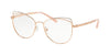 Michael Kors SANTIAGO MK3025 Cat Eye Eyeglasses  1108-ROSE GOLD 53-17-135 - Color Map gold