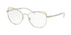 Michael Kors SANTIAGO MK3025 Cat Eye Eyeglasses  1153-SILVER 53-17-135 - Color Map silver
