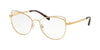 Michael Kors SANTIAGO MK3025 Cat Eye Eyeglasses  1212-LITE GOLD 53-17-135 - Color Map gold
