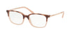 Michael Kors BLY MK4047 Rectangle Eyeglasses  3277-PINK TORT/MILKY PINK 51-17-135 - Color Map havana