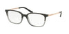 Michael Kors BLY MK4047 Rectangle Eyeglasses  3280-BLACK/TRANSPARENT GREY 53-17-135 - Color Map grey
