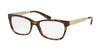 Michael Kors MARSEILLES MK4050 Square Eyeglasses  3293-DARK TORT 53-17-140 - Color Map tortoise