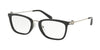 Michael Kors CAPTIVA MK4054 Rectangle Eyeglasses  3005-BLACK 52-20-140 - Color Map black